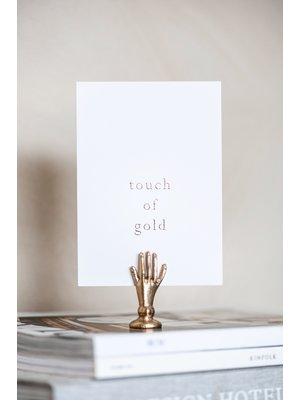 Moes & Griet Greeting card A6 | Touch of gold