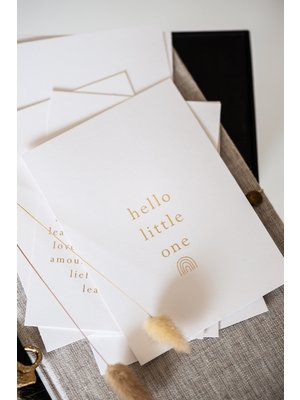 Moes & Griet Birth congratulations A6   hello little one