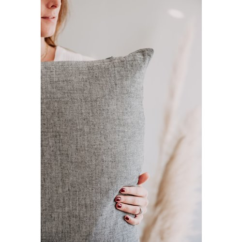 Moes & Griet Cushion Charcoal | Cotton Vintage
