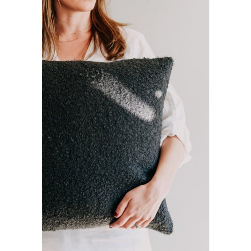 Moes & Griet Cushion Charcoal Bouclé