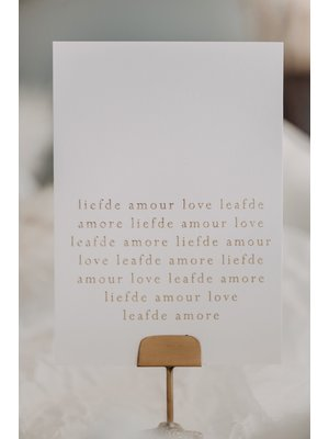 Moes & Griet Carte de voeux A6 | Amour Amour Amour