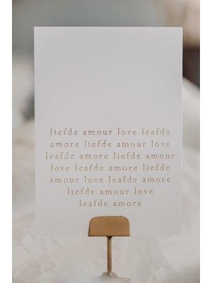 Moes & Griet Liefde Amour love | A6
