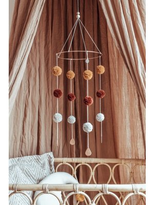 Cotton Design Pompom Mobile