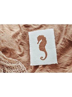 Cotton Design Seahorse Art | A4 + A5