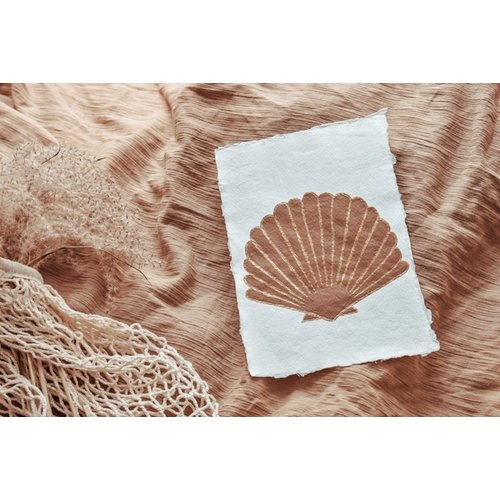 Cotton Design Seashell Art | A4 + A5