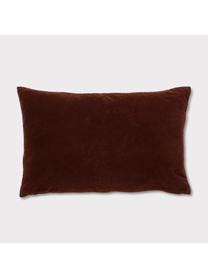 Urban Nature Culture Cushion Vintage Velvet |  Russet Brown Red