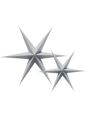 Delight Department  Silver Sparkle Paper Star Set