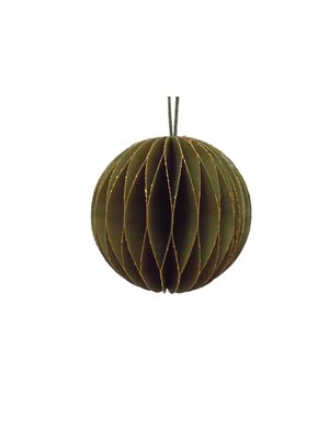Only Naturel Honeycomb Bulb | Moss green | 7.5 cm