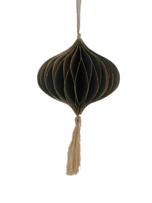 Only Naturel Honeycomb Oud groen | Kwast goud  | 12,5 cm