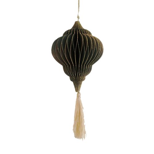 Only Naturel Decoration hanger Old green | Tassel gold | 12.5 cm