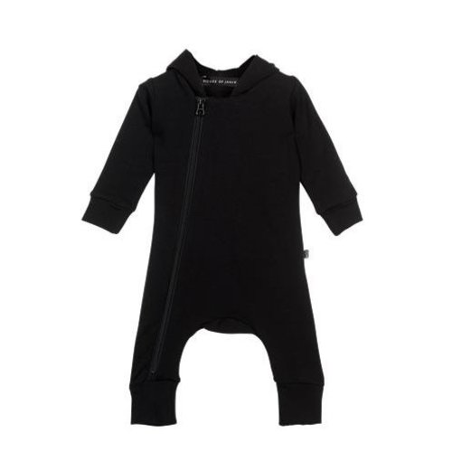 House Of Jamie | Hooded Zip Jumpsuit Black | Different sizes