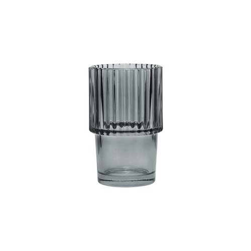 House Doctor Glas Rills | Gerookt Grijs