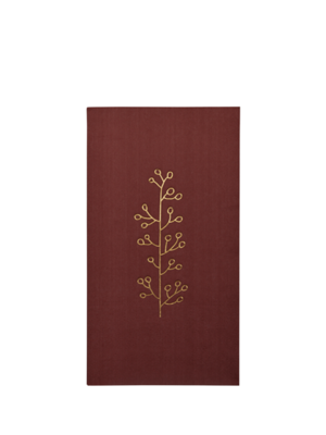 Delight Department  Rust Red Napkins With Gold Print
