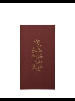 Delight Department  Serviettes de table rouge rouille avec imprimé or