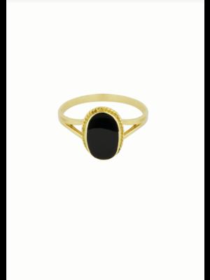 Oval Souvenir Ring Black Maat 5