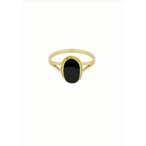 Oval Souvenir Ring Black