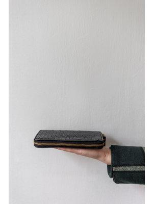 UASHMAMA® Vita Wallet Braided With Gold Zipper