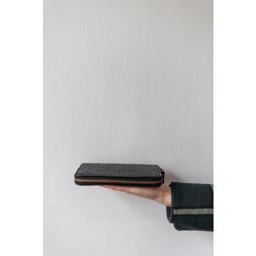 UASHMAMA® Vita Wallet Gevlochten Met Gouden Rits