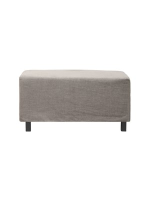 House Doctor Pouf Hocker Hazel Night | Gray / brown