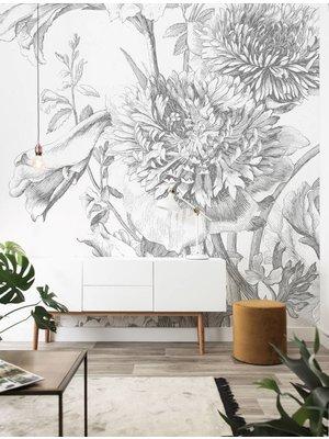 KEK Amsterdam Photo Wallpaper Engraved Flowers 2.0 | 194.8 x 280 cm