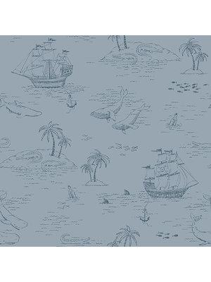 Behang | Boras Tapeter Newbie Treasure Island 7451