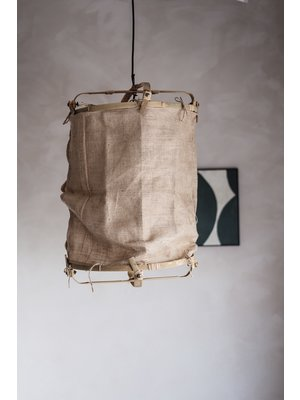 Sustainable Bamboo Lamp | Coffee bean bags