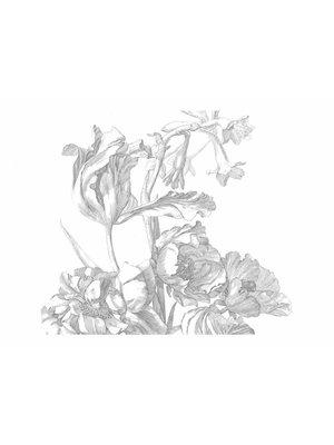 KEK Amsterdam Photo Wallpaper Engraved Flowers   Wallpaper panel Engraved Flowers   389.6 x 280 cm