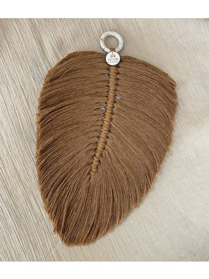 Cotton Design Feather Brown