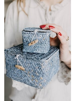 Basket set Daisy Blue | Set of 2