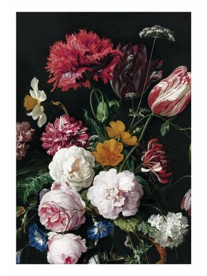 KEK Amsterdam Photo Wallpaper Golden Age Flowers   194.8 x 280 cm
