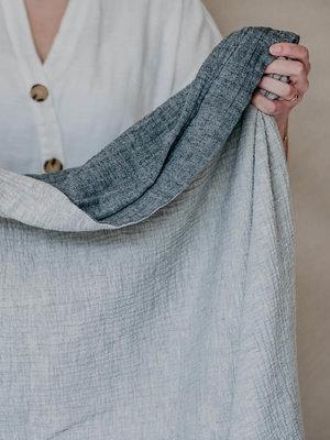 Moes & Griet Throw Charcoal & Mist | Cotton Vintage