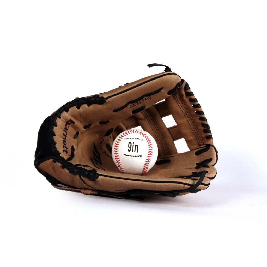 barnett GBSL-1 Бейсбольный комплект из натуральной кожи для взрослых, перчатка & мяч, (SL-127, LL-1)