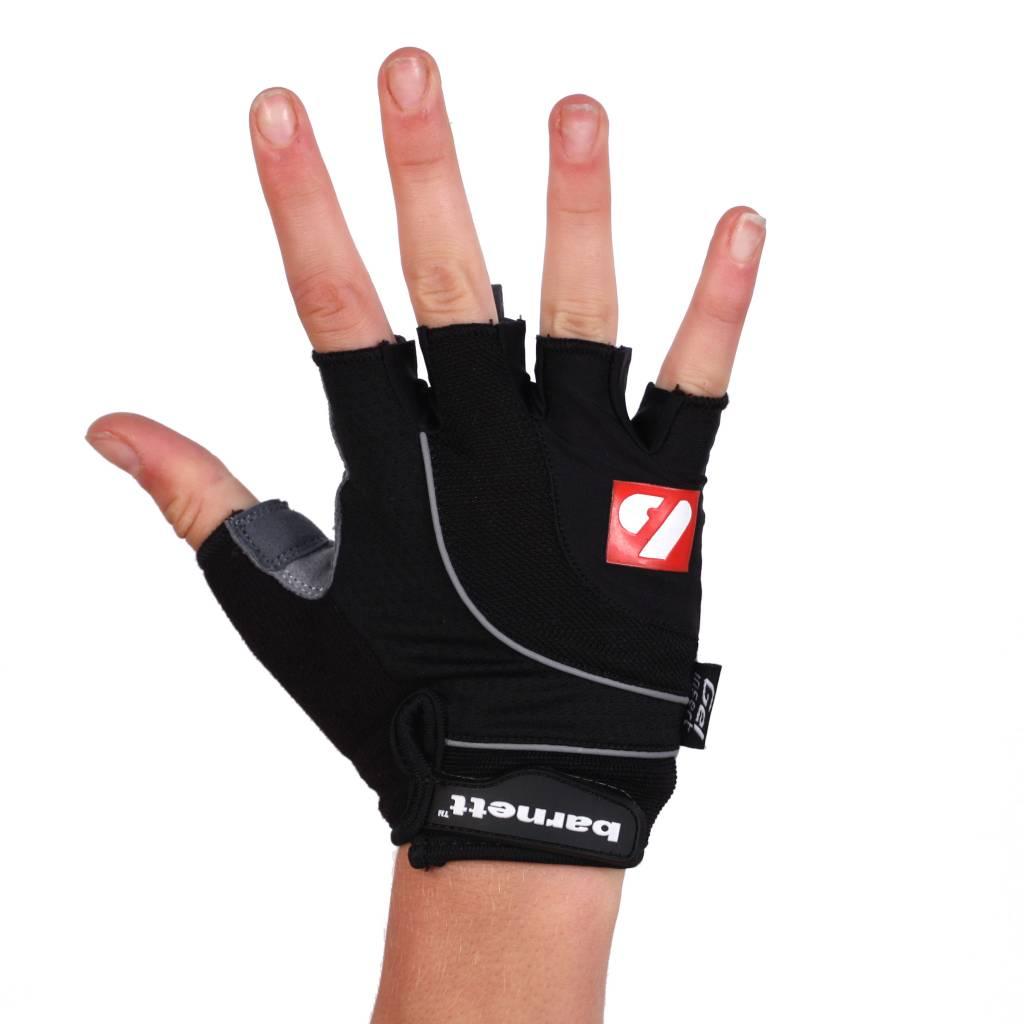 barnett BG-04 Велосипедные перчатки для соревнований с короткими пальцами, чёрные