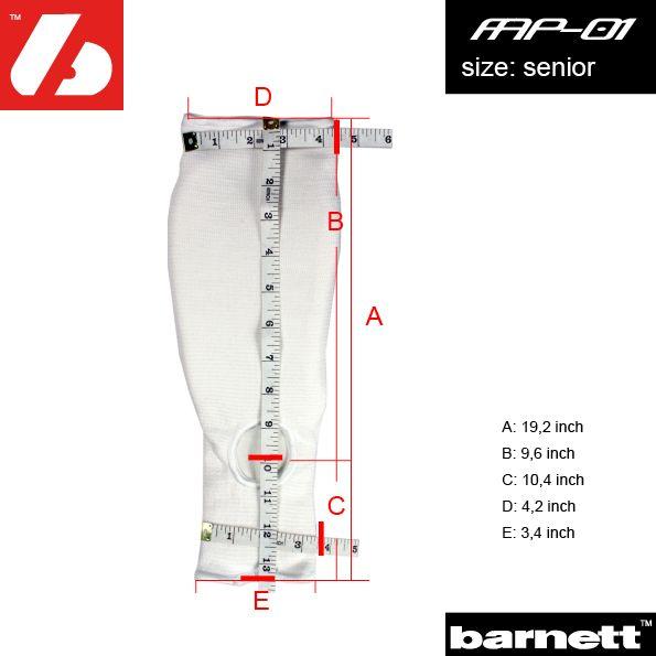 barnett FAP-01 Защита для ладони и предплечья, американский футбол, белая