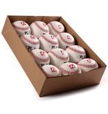 """PL-1 Элитный профессиональный бейсбольный мяч, размер 9"""", цвет белый, 12 шт."""