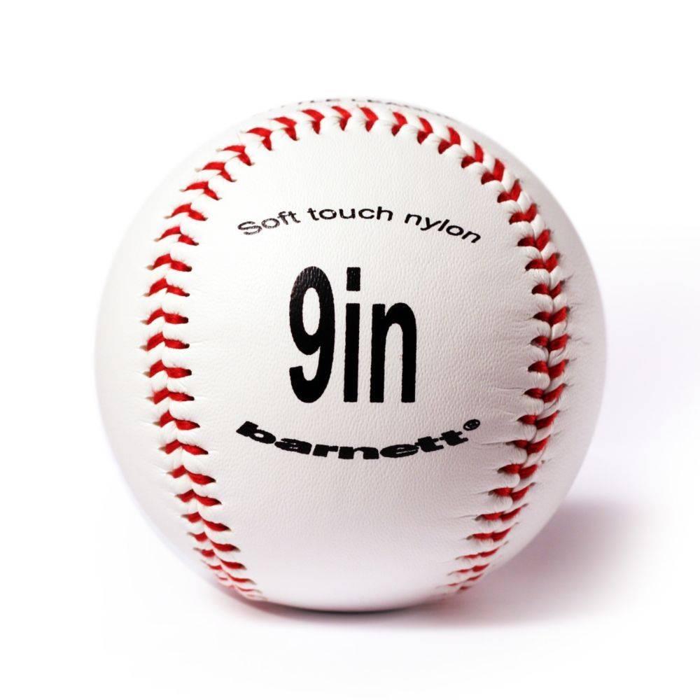 """TS-1 Бейсбольный мяч для тренировки, размер 9"""", цвет белый, 12 шт."""