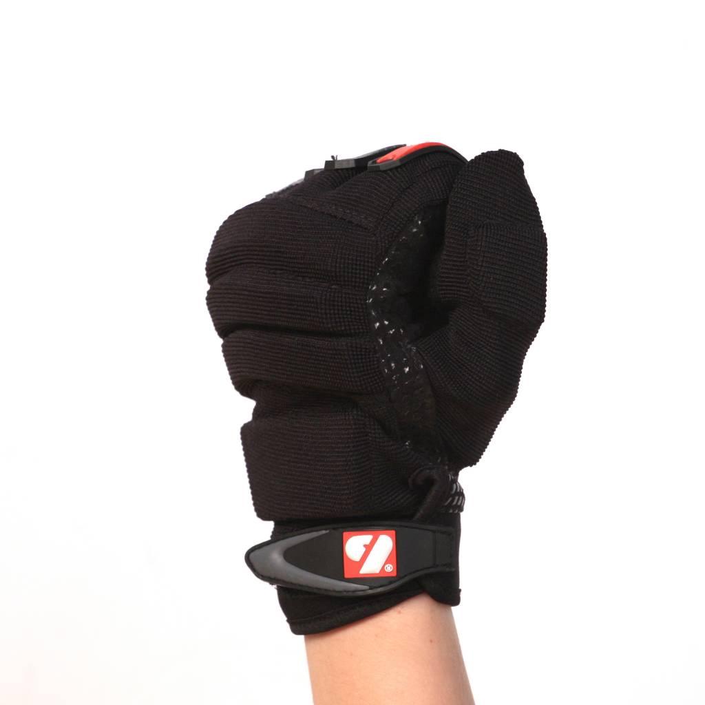 barnett FLG-02  Перчатки нового поколения для лайнмена, американский футбол, OL,DL, чёрные