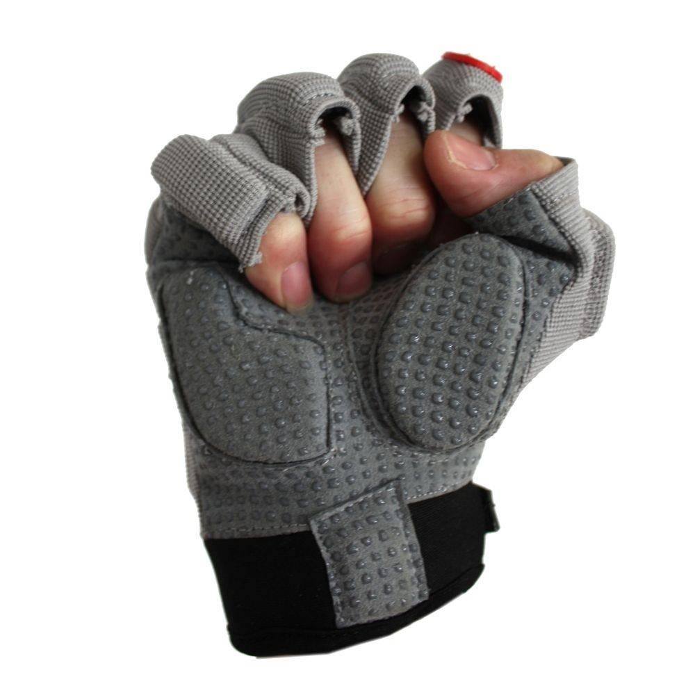 barnett FLGC-02 Перчатки нового поколения для лайнмена с короткими пальцами, американский футбол, OL,DL, серые