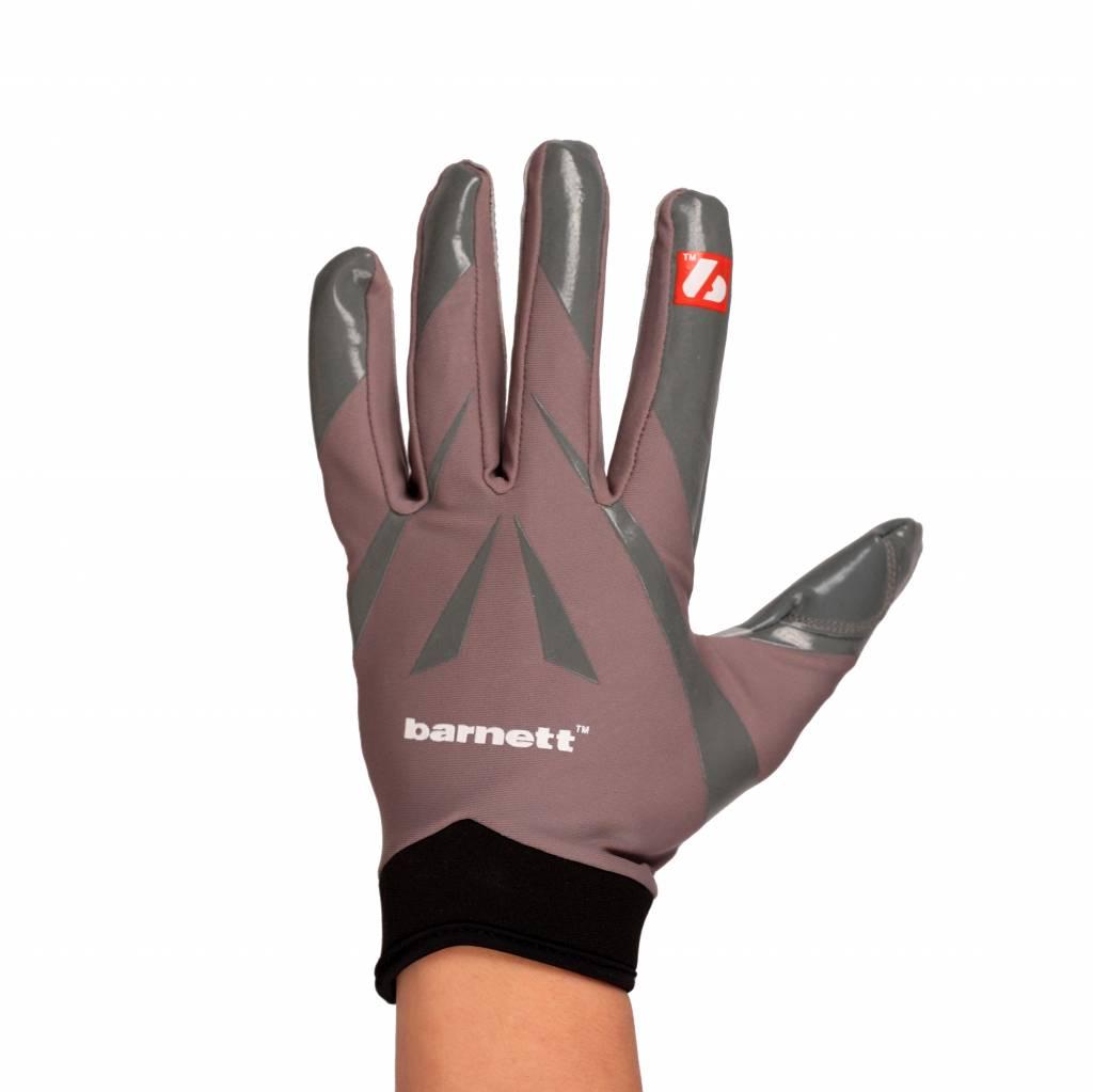 barnett FRG-03 Профессиональные перчатки для ресивера, американский футбол, RE,DB,RB, серые