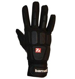 barnett FKG-03 Профессиональные перчатки для лайнбекера, американский футбол, LB,RB,TE, чёрные