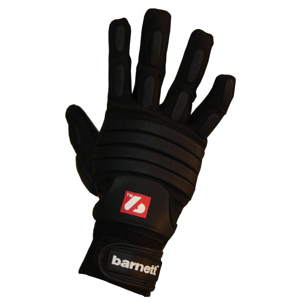 barnett FLG-03 Профессиональные перчатки для лайнмена, американский футбол, OL,DL, чёрные