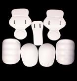 barnett FKJ-01 Молодёжный комплект протекторов для американского футбола из семи частей, единый размер, белый цвет