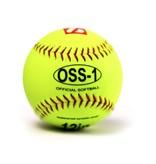 """barnett OSS-1 Тренировочный мяч для софтбола, размер 12"""", цвет флуоресцентный жёлтый, 12 штук"""