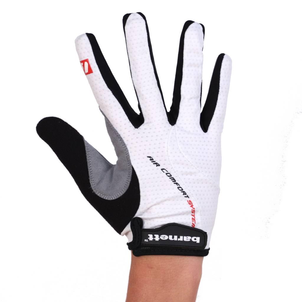 barnett BG-01 Велосипедные перчатки с длинными пальцами, лёгкие и выносливые, белые