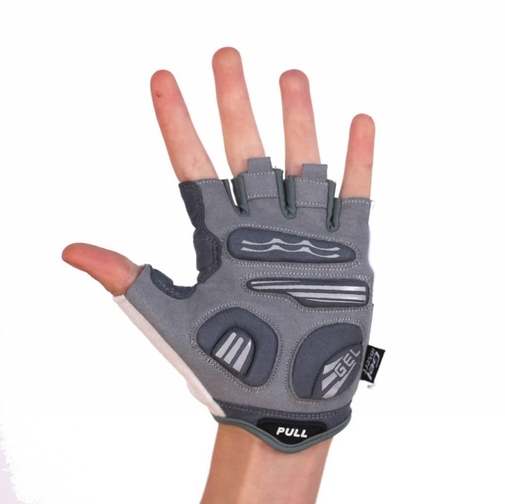 barnett BG-06 Лёгкие велосипедные перчатки с короткими пальцами, цвет белый