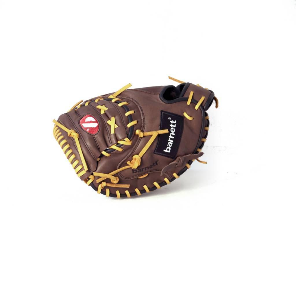 """barnett GL-202 Бейсбольная перчатка, натуральная кожа, кэтчер, для взрослых, размер 34"""", коричневая"""