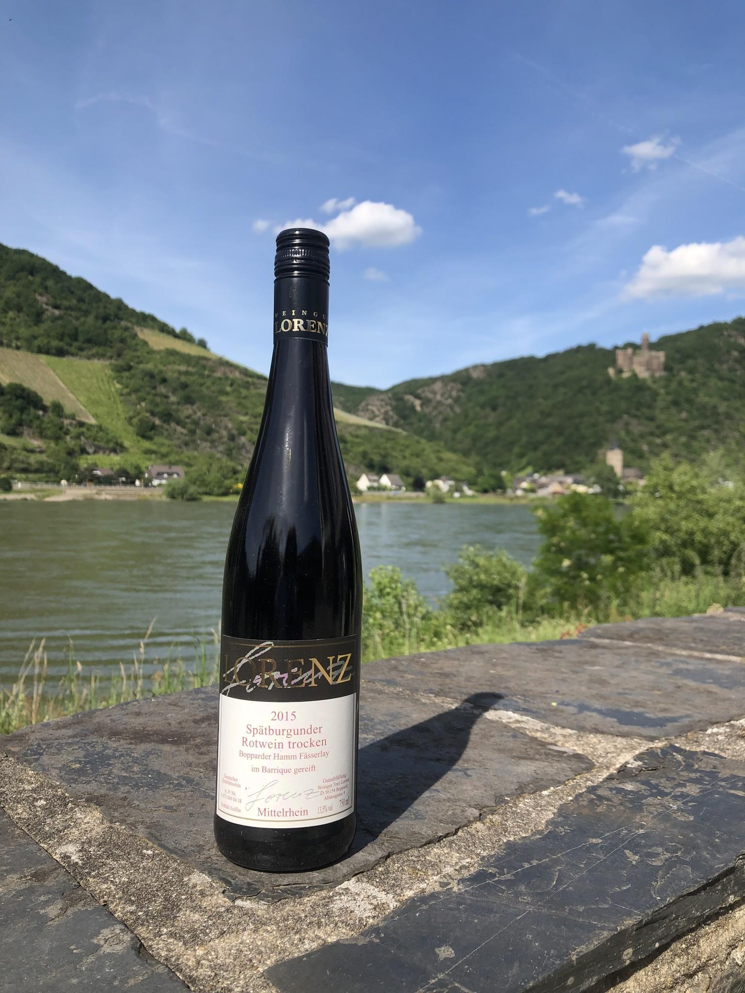 Weingut Toni Lorenz 2015 Spätburgunder Rotwein trocken -Barrique- Bopparder Hamm Fässerlay