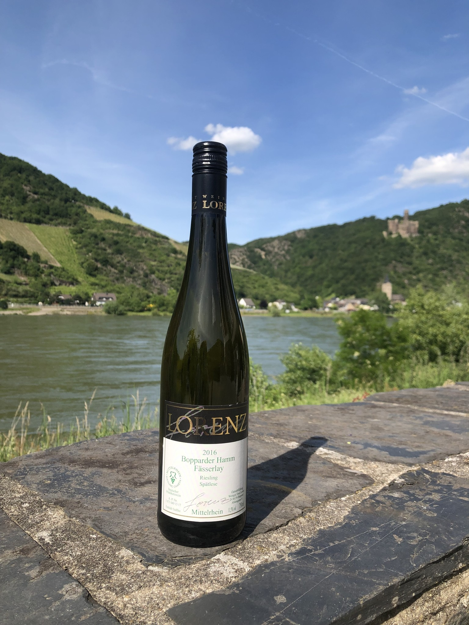 Weingut Toni Lorenz 2016 Bopparder Hamm Fässerlay Riesling Spätlese geschmacklich trocken