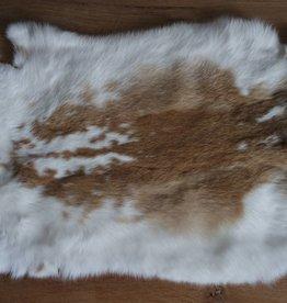 Konijnenvacht wit bruin