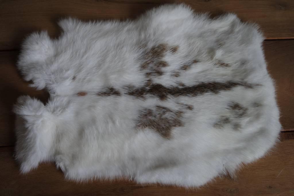 konijnenvacht wit bruin spikkel